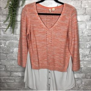 Anthropologie / Moth layered top